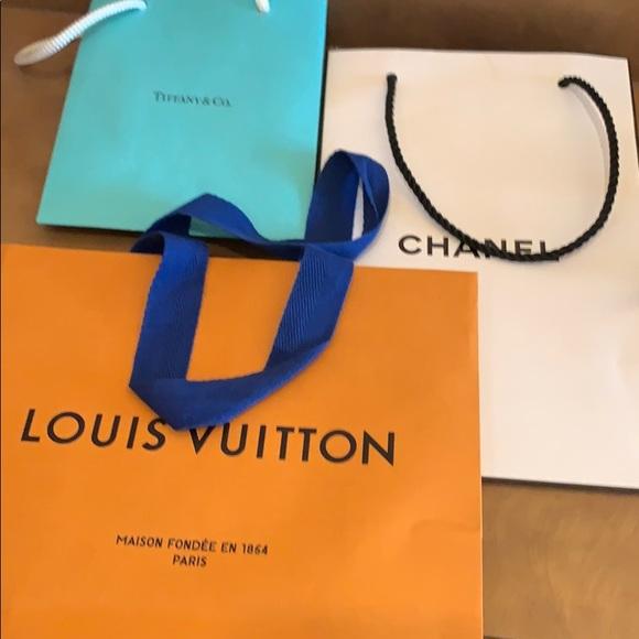 Louis Vuitton, Chanel, Tiffany&co Shopping bags